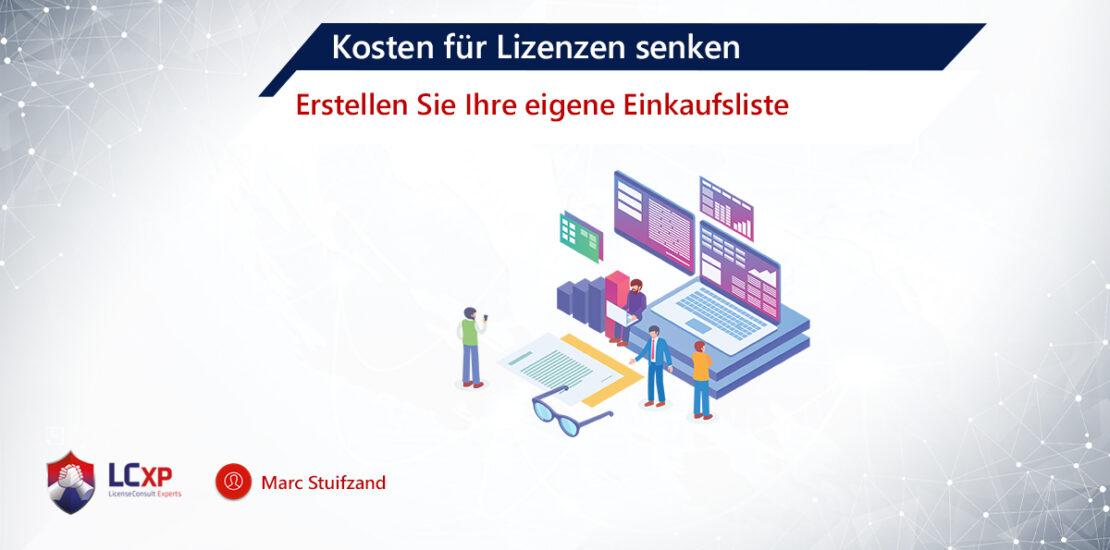 Lizenzkosten senken Blog Marc Stuifzand