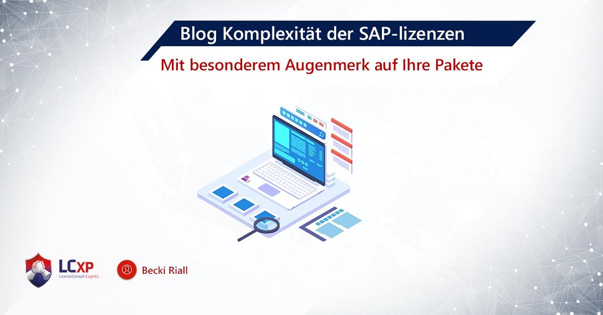 Blog SAP Becki Riall-Licensing SAP Packages Komplexität